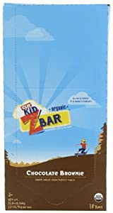 Clif Kid ZBar, Organic, Chocolate Brownie, 1.27-Ounce Bars, 18 Count