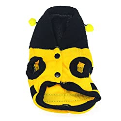 Bocideal 1 Pc Cute Bumble Bee Wings Pet Dog Fleece Costume Apparel Coat by Bocideal
