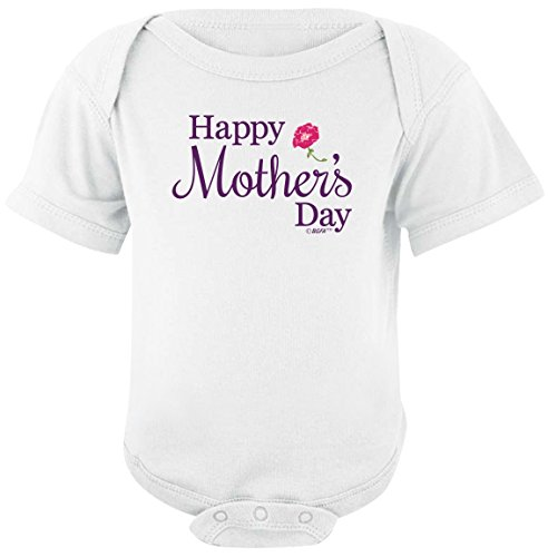 Funny Baby Clothes Mom Gift Happy Mother's Day From Child Bodysuit 6 Months White