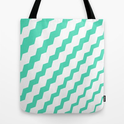 Society6 - Mint Sideways Tote Bag by Bree Madden