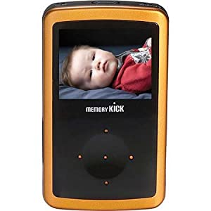 Memory Kick 60 GB MediaCenter HDD Portable Multimedia Photo Viewer & Manager with USB 2.0 Interface - Orange