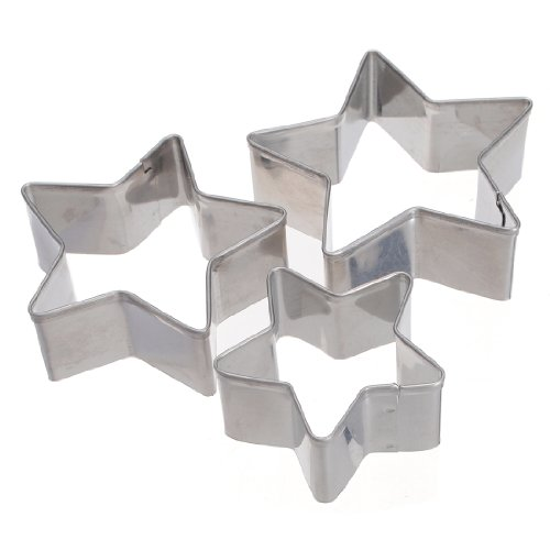 Aliciashouse 3 Forme Pcs Étoile Cookie Pastry Cutter Cake Decorating