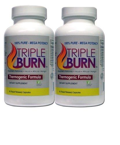 Tripleburn Supplement Raspberry Ketones + Acai Berry + African Mango