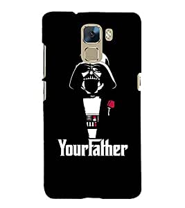 EPICCASE Your Father Mobile Back Case Cover For Huawei Honor 7 (Designer Case)