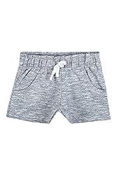 Chalk by Pantaloons Girl's Cotton Shorts (205000005644840, Grey, 3-4 Years)