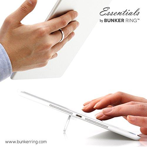 BUNKER RING Essentials(Matt 6 Color) バンカーリング iPhone/iPad/iPod/Galaxy/Xperia/スマートフォン・タブレットPCを指1本で保持・落下防止・スタンド機能(シルバー )