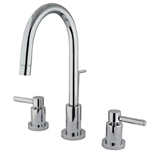 Kingston brass ks8951dl 6 1 4 inch spout reach concord - 4 inch widespread bathroom faucets ...