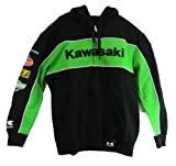 Kawasaki Men's Race Zip-front Hooded Sweatshirt (Medium)