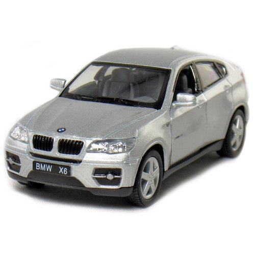 "Bmw X6 Suv: Set Of 4: 5"" BMW X6 SUV 1:38 Scale (Black/Red/Silver/White"