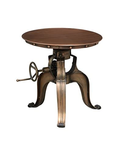 Tottenham Court Sal Crank Table, Copper