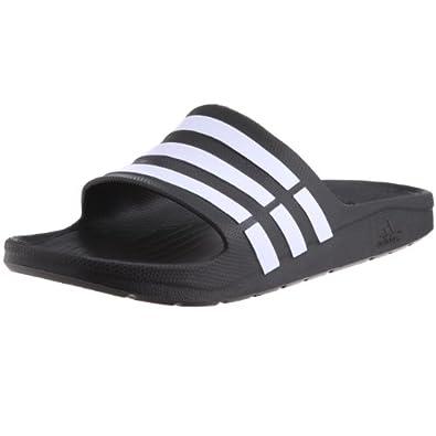 adidas Performance Mens Duramo Slide-0 Running Shoes Black I/White/Black I 4 UK