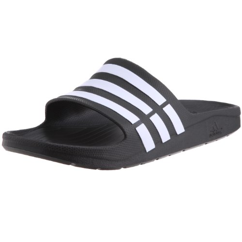 Adidas Duramo Slide, Ciabatte da Unisex Adulto, Nero (Black/White/Black), 40.5 EU (7 UK)