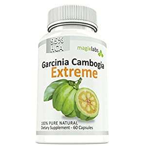 95% HCA Garcinia Cambogia EXTREME. Highest Potency ANYWHERE +1250mg per capsule. Certified. Fast Action Diet Pills: Fat Burner, Carb Blocker + Appetite Suppressant for Extreme Weight Loss by MagixLabs