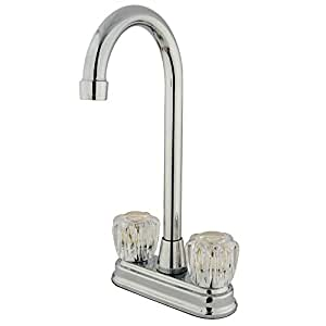 Kingston Brass Kb491ac Magellan 4 Inch Center Bar Faucet With Acrylic Handle 4 3 4 Inch