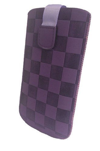 CHESS Pull Up XL Lila Muster Handytasche,