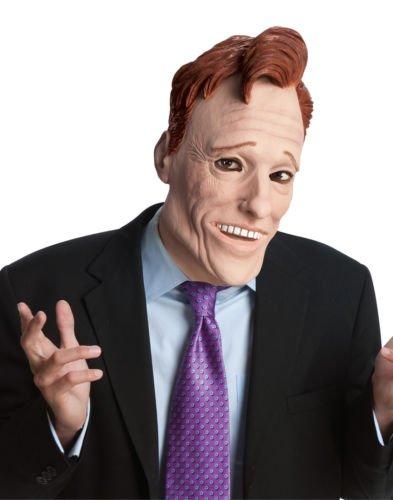 Ex Talk Show Conan O'Brien Mask Host Funny Halloween Mask Adult (Alien Host Adult Mask)