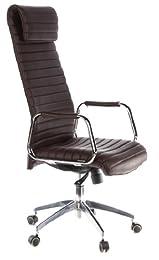 Hjh Office Aspera 20 Siège de bureau type fauteuil de direction - Cuir Nappa (Veau) - Marron
