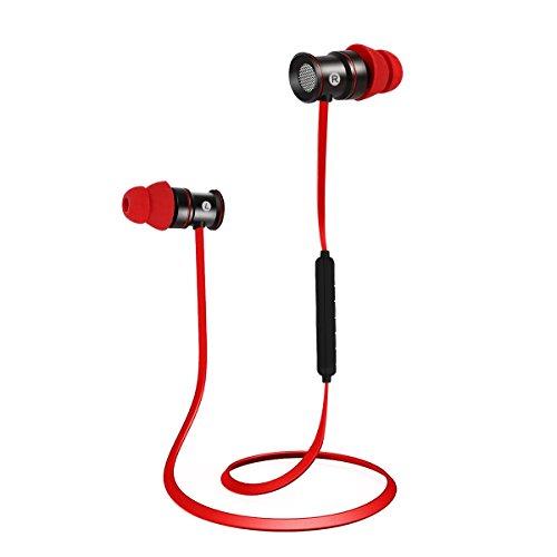 EC Technology Auricolari Bluetooth 4 1 per con Microfono, e magneti Headset  Stereo Cuffie Sportive a Prova di Sudore Headphone per iPhone7/7 Plus,