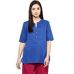Akkriti by Pantaloons Women Kurta (205000005575114_Blue_X-Small)