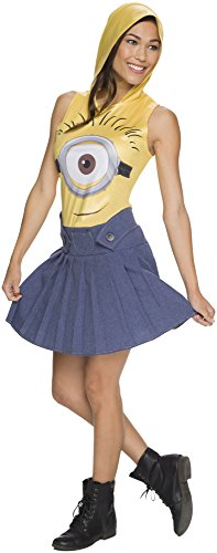 Rubie's Costume Co Women's Minion Face Hooded Costume Dress