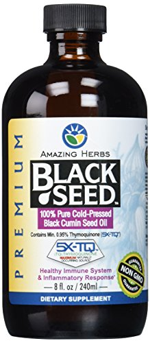 Amazing Herbs Black Seed Cold-Pressed Oil - 8oz