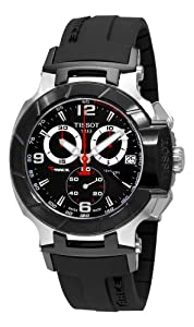 Tissot Men's T0484172705700 T-Race Black Chronograph Dial Watch by Tissot