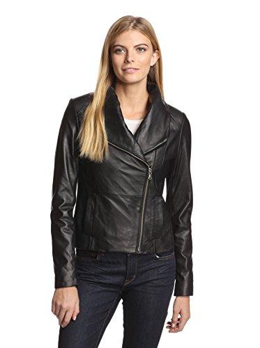 Bagatelle City Women's Funnel Neck Leather Jacket