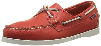 Sebago Men's Docksides Casual Slip On Leather Boat Shoes Bright Red, 7 M