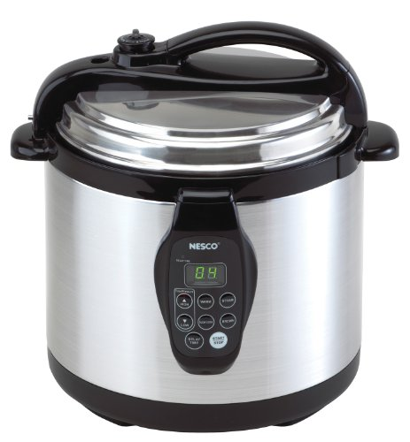 Nesco PC6-25 Digital Pressure Cooker, Stainless Steel, 6-Quart, Black/Silver (Harvest Electric Pressure Cooker compare prices)