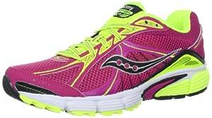 Saucony Women's Ignition 4 Running Shoe,Fuchsia/Citron,7.5 M US
