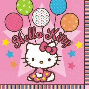 Amscan Hello Kitty Beverage Napkins - 16 ct