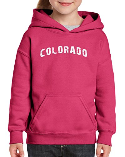 xekia colorado distress home of colorado springs hoodie for girls and boys youth kids large heliconia - Halloween Stores Colorado Springs