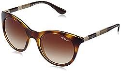 Vogue Gradient Rectangular Sunglasses (0VO2971SW65613Medium) (Dark Havana)