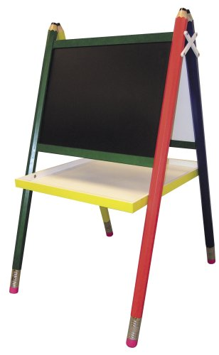 ORE International Kids' Primary-Color Drawing Board Easel