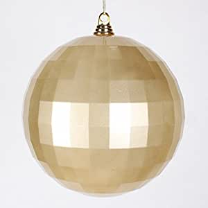 Champagne gold mirrored disco ball christmas for Small gold christmas ornaments
