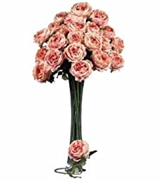 Nearly Natural 2127-PK 31 in. Large Pink Rose Stem - Set of 12