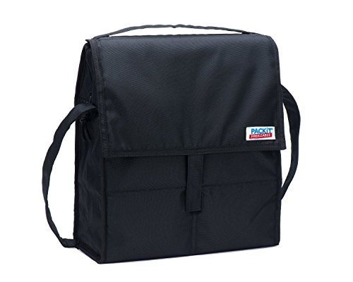 PackIt Freezable Picnic Bag with Zip Closure, Black - 2 Count - 1
