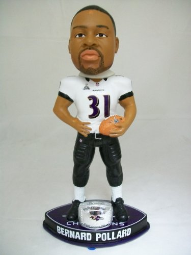 Bernard Pollard Super Bowl 47 XLVII Baltimore Ravens Ring Bobblehead Nodder New at Amazon.com