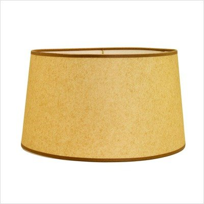 "Hard Back Linen Shallow Drum Shade Size: 17"" Floor Lamp Shade, Color: Kraft"