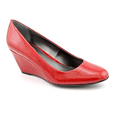 Amazon.com: Alfani Women's Camila Round Toe Wedge Pumps in Cherry Size