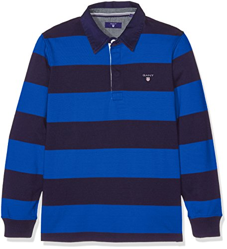 Gant the Original Barstripe Heavy Rugger, Polo Bambino, Blu (Nautical Blue), 7-8 Anni