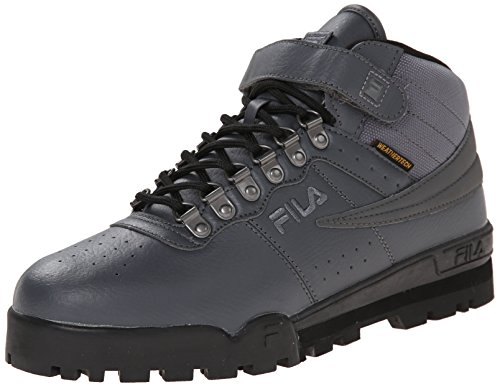 Fila Men's F-13 Weather Tech Hiking Boot, Castlerock/Black/Dark Silver, 13 M US
