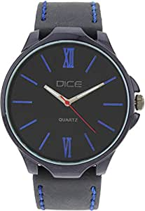 """Dice """"Aura 1508"""" Casual Round Shaped Wrist Watch For Men. Fitted with Beautiful Black Color Dial and Anti Allergic Leather Strap"""