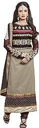 Shree Sai Exports Women's Georgette Unstitched Dress Material (Mehndi)