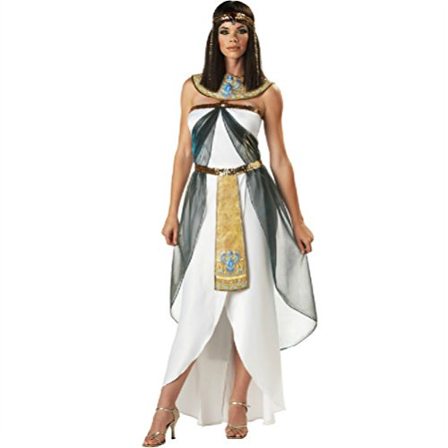 Purplebox Halloween Costume Greek Goddess Queen Of Egypt Arab Girl Dress White Dress