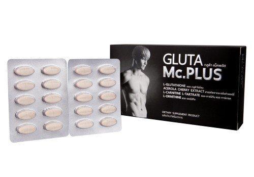 Poppular Top Thailand Gluta Mc Plus For Perfect Men Sexy With Best Gluta Whitening Skin Men 1 Box 20 Capsule