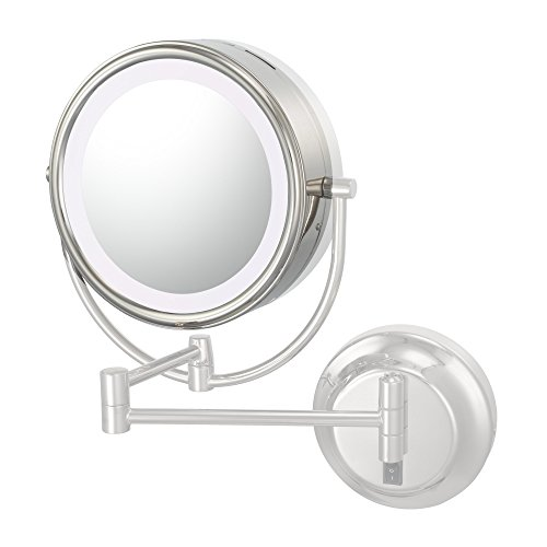 Kimball & Young 725-92587L Optional Lens And Frame For Neo Modern Led Mirrors, Polished Nickel, 7X Magnification front-539994