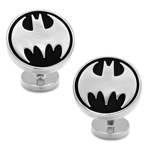 DC-Comics-Mens-Recessed-Black-Vintage-Batman-Cufflinks-DC-BMVR-BK