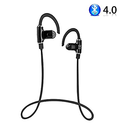 PLAY X STORE Wireless Bluetooth 4.0 Stereo Headphone With Microphone Hands Free Sports Gym Earphone Workout Headset For Android Smartphone and More (Black/S530)