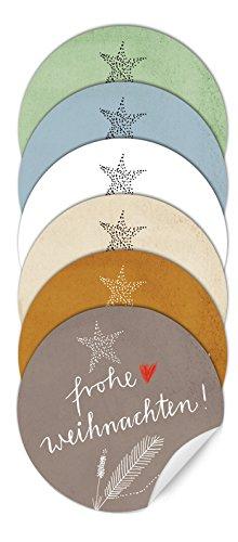 24 sch ner pastell mix weihnachtssticker frohe. Black Bedroom Furniture Sets. Home Design Ideas